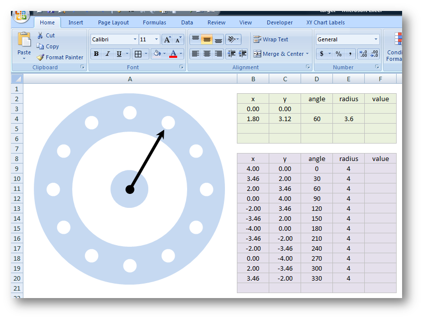 Excel: having fun with X-Y plots and shapes | Great software
